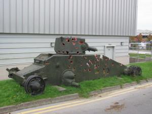 Tank Matilda I sloužil jako cíl protitankovému dělostřelectvu