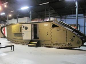 Tank Mark V** tvoří součást unikátní kolekce obrněnců z první světové války