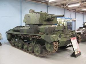 Střední tank A10CS patřil k typům, které Britové nasazovali v prvních letech války