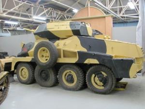 Jeden ze dvou postavených jihoafrických těžkých obrněných automobil Marmon Herrington Mk. IV