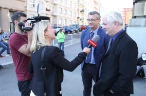 Autoři výstavy Prokop Tomek (vlevo) a Ivo Pejčoch