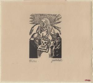 Válka. Předloha k ilustraci z knihy Malíř na frontě, 1929, hedvábný papír, dřevoryt.