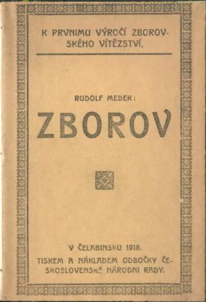 Čeljabinské vydání Medkovy básně Zborov k prvnímu výročí bitvy.