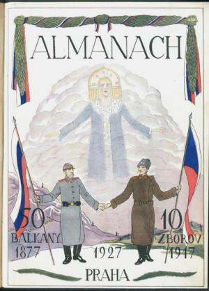 Výroční almanach ruských emigrantů v meziválečném Československu spojující zborovské události s rusko-tureckou válkou jako boj za osvobození Slovanů.