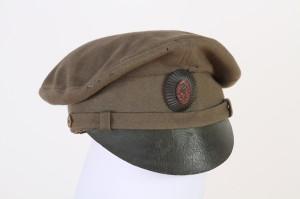 Čepice vyrobená již v režii čs. legionářů s kokardou s československým lvem. FOTO: VHÚ