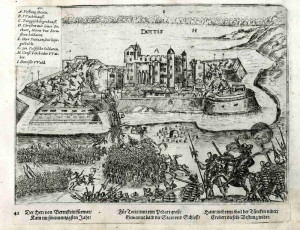 Dobývání uherské pevnosti Tata roku 1597.