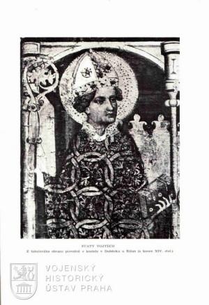 Fotografie tabulového obrazu Svatého Vojtěcha.