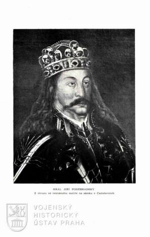 Fotografie obrazu krále Jiřího z Poděbrad.
