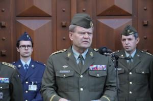 Náčelník GŠ AČR armádní generál  Josef Bečvář při úvodním projevu