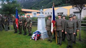 Pietní akt 23. září 2017 u obnoveného pomníku legionáře J. Sobotky v Pieve di Bono