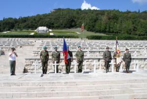 Pietní akt 28. září 2017 na polském válečném hřbitově na Monte Cassinu, u hrobu Rudolfa Kurka z Moravské Ostravy