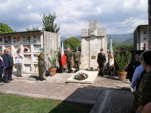 Pietní akt 28. září 2017 u společného hrobu zemřelých zajatců z první světové války v Cairu u Cassina