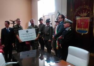 Prezentace připravené pamětní desky čs. dobrovolníkům na radnici v St. Maria Capua Vetere