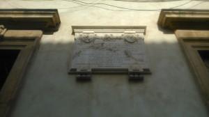 Pamětní deska čs. legionářů na Palazzo Candiotti ve Folignu