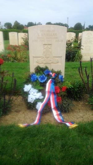 Místo posledního odpočinku poručíka Ladislava Krieglera na britském válečném hřbitově v Assisi