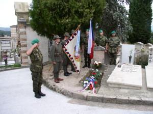 Pietní akt 1. října 2017 u hrobu legionáře Josefa Matušky v Perugii
