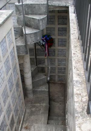 Hrob legionáře Jana Hrazdila na Cimitero Monumentale v Perugii