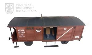 Model legionářského železničního vagónu těplušky