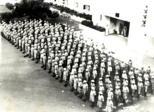 Oslavy 28. října 1942 v Haifě - nastoupení příslušníci Československého lehkého protiletadlového pluku 200 - Východního