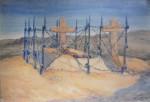 Mohyly u Zborova od Františka Parolka, vytvořené v den bitvy