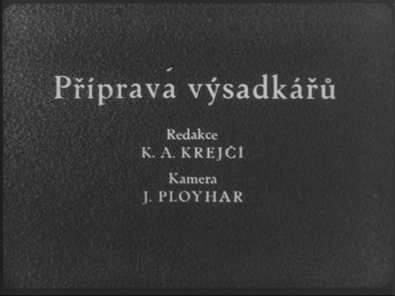 Příprava výsadkářů (Armádní zpravodaj č. 1/1954)