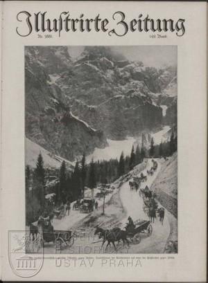 Illustrirte Zeitung s fotografií kolony vozatajstva poblíž prostoru ofenzívy.