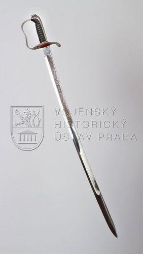 Rakousko-uherská šavle pro důstojníky pěchoty vzor 1861, osobní zbraň arcivévody F. F. d´Este