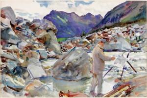 John Singer Sargent: Ledovcový jazyk v Alpách; akvarel na papíře, 1910–1911. FOTO: Laing Art Gallery, Newcastle-upon-Tyne/Bridgeman Images