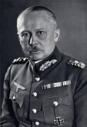 Generál svobodný pán Werner von Fritsch, vrchní velitel pozemního vojska. FOTO: VHÚ Praha
