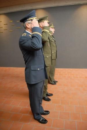 brigádní generál František Ridzák , generálporučík Jiří Baloun a generálmajor Jaromír Zůna