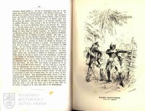 Kresba vojáků pěšího pluku č. 13.