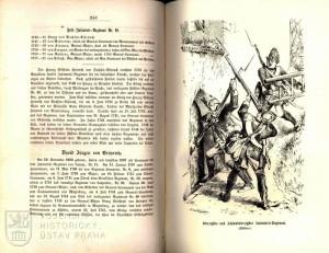Ukázka textu věnovaného pěšímu pluku č. 40.