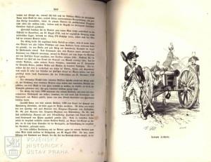 Kresba pruského jízdního dělostřelectva.