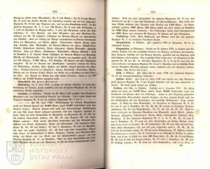 Ukázka textu věnovaného bitvě i Leuthenu (početní stav rakouské armády je značně nadsazen).