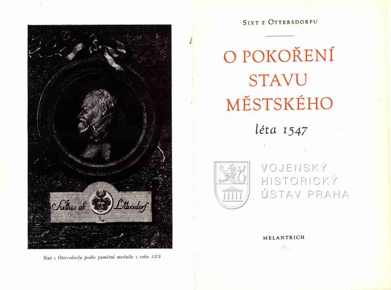 OTTERSDORFU, Sixt z. O pokoření stavu městského léta 1547
