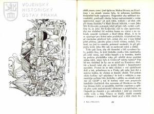 Ukázka z textu a dřevořez zobrazující tábor lancknechtů 1. poloviny 16. stol.