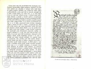 Ukázka z textu a úvodní list původního Ottersdorfova dennopisu.