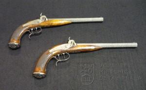 Pár pistolí s perkusním zámkem, firma A. Ch. Kehlner´s Neffe, Praha, kolem 1850