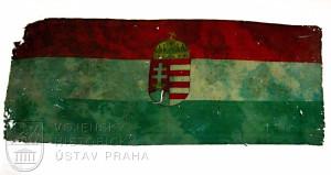 Ukořistěný maďarský prapor, 1918
