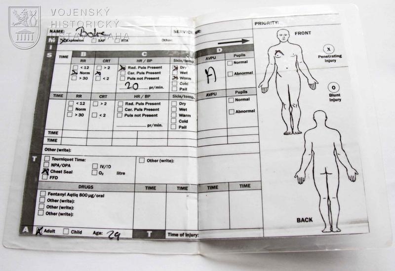Záznam o zranění používaný PCHT