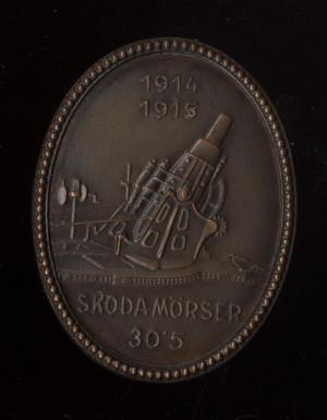 Dělostřelecký odznak s motivem moždíře značky Škoda. FOTO: VHÚ