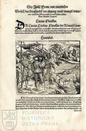 Ilustrace Hannibala a slonů.