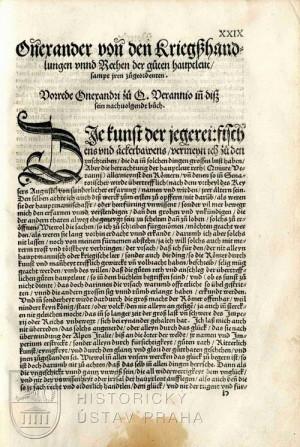 Začátek Onosanderova textu.