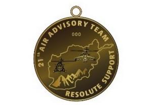 Pamětní odznak 21. úkolového uskupení leteckého poradního týmu v Afghánistánu (AAT).