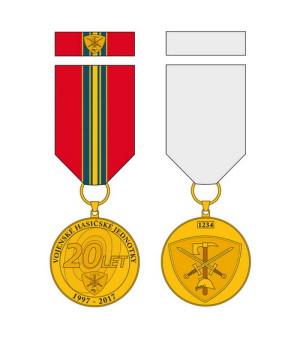 Pamětní odznak k 20. výročí vzniku Vojenských hasičských jednotek.