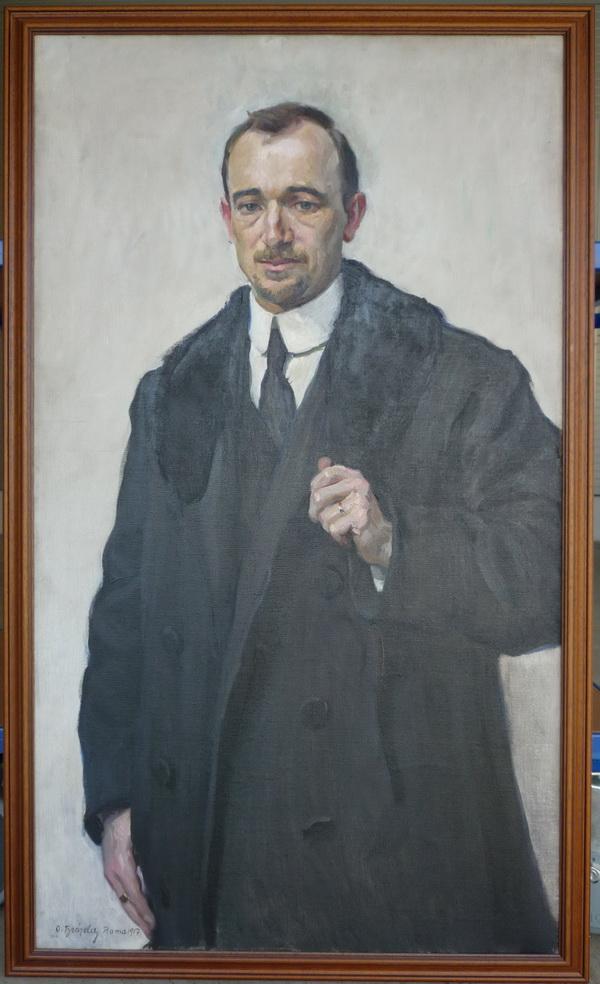 Oskar Brázda, Edvard Beneš, 1917