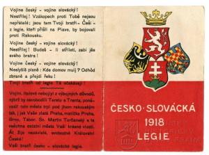 Propagační kalendář československých legií v Itálii na rok 1918