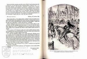 Text dopisu Mikoláše Alše z 10. prosince 1884 adresovaný Aloisi Jiráskovi a tušová kresba z roku1889 znázorňující Kolovrata Žehrovského na turnaji namalovaná pro knihu Z Čech až na konec světa.