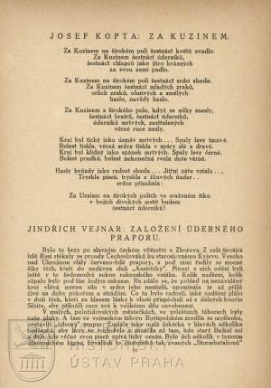 Báseň Josefa Kopty