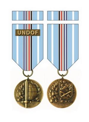 Medaile Ministra obrany České republiky Za službu v zahraničí – UNDOF.